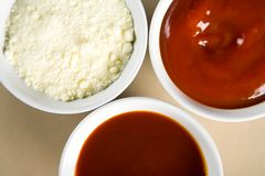 Sauces in a cup Royalty Free Stock Photos