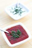 Sauces d'ail et tomate Photo stock