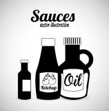 Sauces design. Over gray background vector illustration Stock Photos