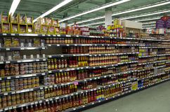 Sauces and ingredients Asian Market Royalty Free Stock Photography