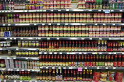 Sauces and ingredients Asian Market Royalty Free Stock Photo