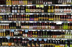 Sauces and ingredients Asian Market Royalty Free Stock Image