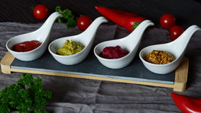Sauces for meat in stock Stock Image