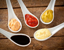 Sauces mixed Stock Images