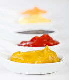Sauces mixed Royalty Free Stock Photo