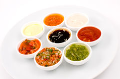 Sauces palette Royalty Free Stock Photo
