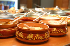 Sauces in pots Royalty Free Stock Photo