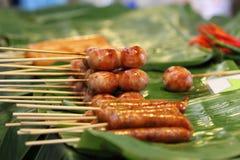 Saucisse épicée thaïe Photos libres de droits