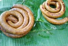Saucisse épicée thaïlandaise ou saucisse d'AMI de Chaing Image stock