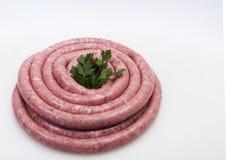 Saucisse crue fraîche Photos stock