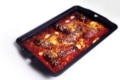 Saucisse cuite au four Photos libres de droits