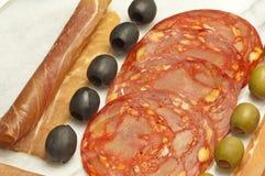 Saucisse de chorizo de l'Espagne Image libre de droits