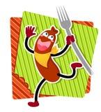 Saucisse de dessin animé Image libre de droits