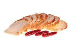 Saucisse de pain Photos libres de droits