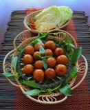 Saucisse de proc aigre thaïlandaise Images stock