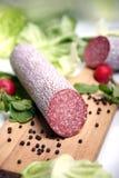 Saucisse de salami Photos libres de droits