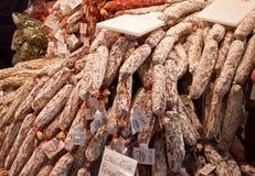 Saucisse de sanglier fabriquée en Italie images libres de droits