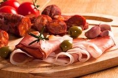 Saucisse espagnole de chorizo image libre de droits