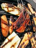 Saucisse et barbecue Photos stock