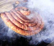 Saucisse et barbecue Photographie stock