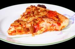 Saucisse et pizza de pepperoni Image libre de droits