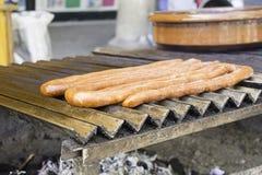 Saucisse frite Photo libre de droits
