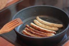 Saucisse frite photo stock