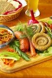 Saucisse-gril bavarois Image libre de droits