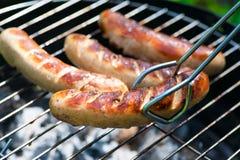 Saucisse grillée photo libre de droits