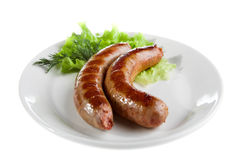 Saucisse grillée Photo stock