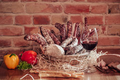 Saucisse italienne Photo stock