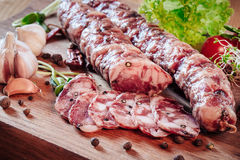 Saucisse italienne Photos stock
