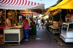 Saucisse Naschmarkt à Vienne Photos stock