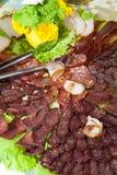 Saucisse plate Photo stock