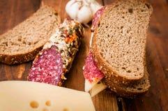 Saucisse pour le petit déjeuner, photos stock