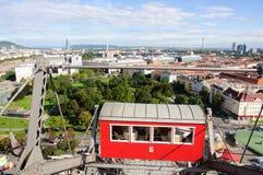 Saucisse Riesenrad (roue géante de Vienne Ferris) Image libre de droits