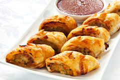 Saucisse Rolls Photos stock