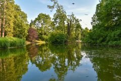 Saucisse Stadtpark à Vienne, Autriche Photo libre de droits