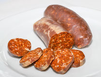 Saucisse turque slised Photographie stock
