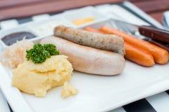 Saucisses allemandes Photo libre de droits