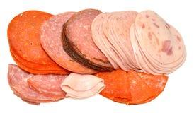Saucisses allemandes coupées en tranches Image libre de droits