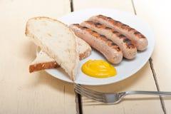 Saucisses allemandes traditionnelles de wurstel Photographie stock libre de droits