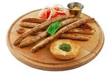 Saucisses assorties Photo stock