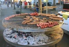 Saucisses au gril Image stock
