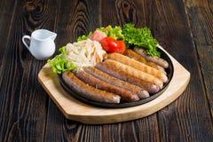 Saucisses bavaroises images libres de droits