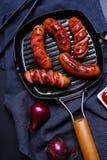 Saucisses délicieuses Images stock
