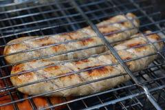 Saucisses de barbecue Photos libres de droits