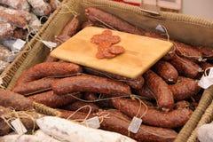 Saucisses de chorizo photographie stock libre de droits