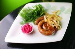 Saucisses de friture Image stock