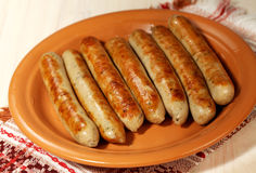 Saucisses de gril de barbecue Photo stock